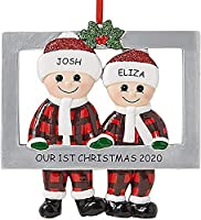 絶妙なパーソナライズされた装飾の生き残った家族2020クリスマスホリデーデコレーション特別な記念品ツリーハンギングホームパーティーホリデーデコレーションクリスマスペンダントギフト(A)
