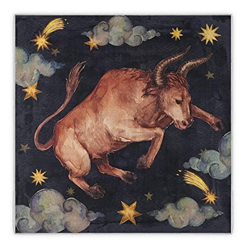 Sweet grape Pañuelo Taurus con signo del zodiaco, bufanda grande cuadrada de satén como bufandas, pañuelo Tauro, bufanda para dormir para el cabello, bufanda para mujer, ligera, 88 cm