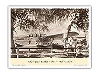 「フィリピンクリッパー」(マーティンM-130) - パールハーバーハワイ1935 - パン・アメリカン航空(PAA) - によって作成された クライド・サンダーランド - アートポスター - 23cm x 31cm