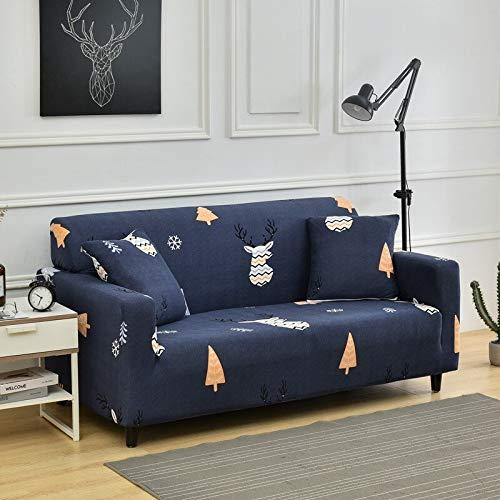 WXQY Funda de sofá elástica Creativa Funda de sofá de celosía elástica combinación a Prueba de Polvo Antideslizante protección para Mascotas Funda de sofá A18 4 plazas