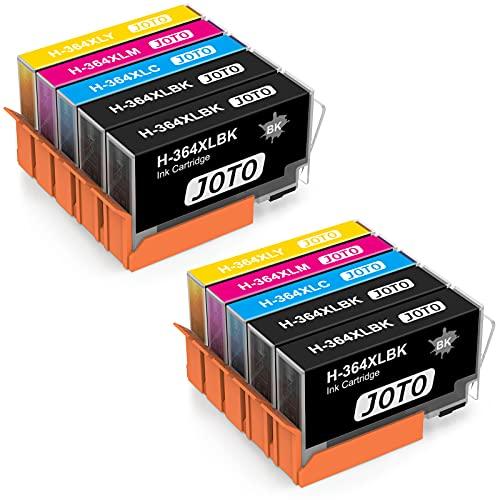 JOTO 364XL Cartuchos de tinta Reemplazo para 364XL 364 XL Alta Capacidad Compatible con Photosmart 7510 5520 5510 5511 5512 5514 5515 7520 5522 5524 6510 6520 6512