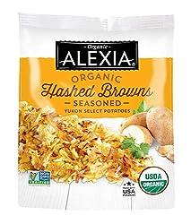 Alexia Organic Hashed Browns Seasoned Yukon Select Potatoes, Non-GMO Ingredients, 16 oz (Frozen)
