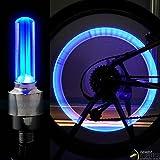StickersLab-Tapón de Válvula Para Rueda LED Azul con Pilas Universal de Bicicleta Para Coche Moto