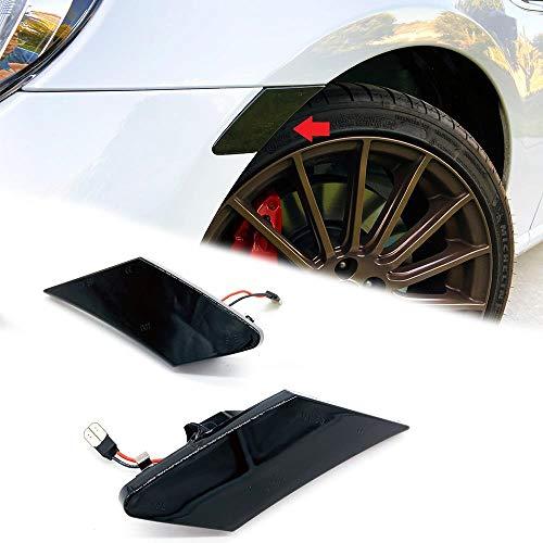 Overun Signature Dark Smoked Len Amber LED Panel Bumper Side Marker Light Plug&Play Designed for 2013-2020 86 BRZ