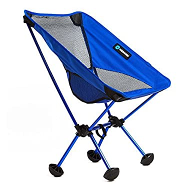 Terralite Portable Camp Chair. Perfect For Camping, Beach, Backpacking & Outdoor Festivals. Compact & Heavy Duty (Supports 350 lbs). Includes TerraGrip Feet- WonâÂÂt Sink in the Sand or Mud.