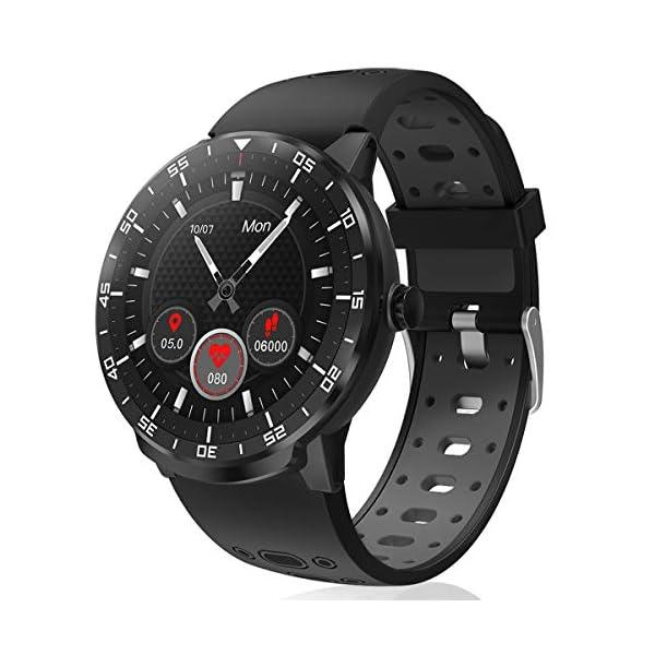 Reloj Inteligente, HopoFit Smartwatch, Pulsómetros, Monitor de Sueño, Podómetro, Notificación Llamada y Mensaje… 1