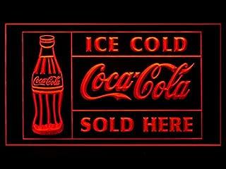 Ice Cold Coca Cola Sold Here Soda Coke LED Light Sign