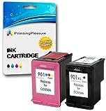 Printing Pleasure 2 XL Tintenpatronen kompatibel zu HP 901XL für Officejet 4500 J4500 J4524 J4535 J4540 J4550 J4580 J4585 J4624 J4660 J4680 J4680C G510a G510g G510n - Schwarz/Color, hohe Kapazität