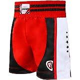 Farabi Boxing Muay Thai, MMA, Martial Arts Fitness Kickboxing Gym Shorts (Blue/Red, XS)