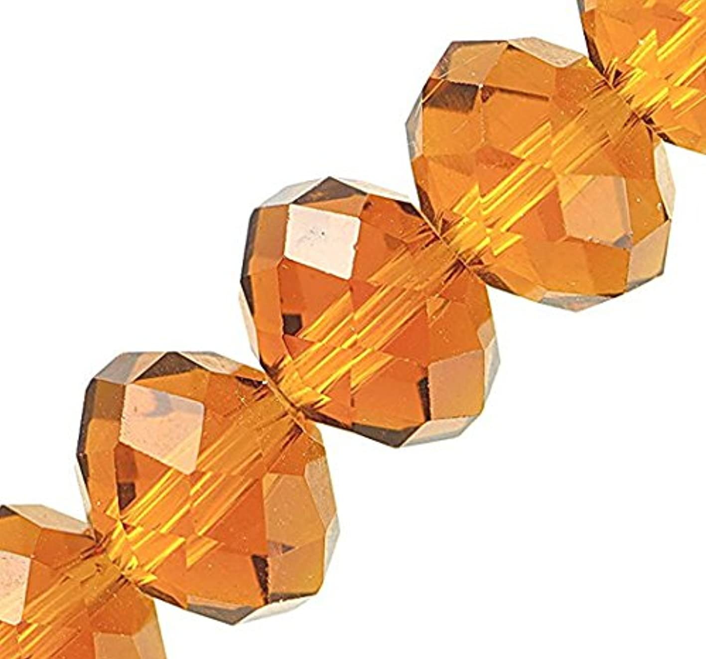 Linpeng 130pcs 10x12mm Faceted Crystal Beads for for Jewelry Making, 10 x 12mm, Citrine iiqoiabkasp959