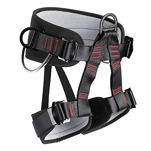 HandAcc Climbing belts, Thicken Professional Half Body Safety Belt for Rock Climbing, Fire Rescue, Expanding Training and Outdoor Adventure Activities