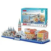 3Dパズル世界の有名なアトラクション、都市の建物の組み合わせモデル組み立てられたおもちゃの子供と思春期の教育おもちゃ挿入おもちゃ (Venice, Italy)