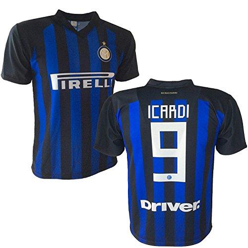 Maglia Calcio Inter Icardi Replica Autorizzata 2018-2021 bambino (taglie 2 4 6 8 10 12) adulto (S M L XL) (TAGLIA M)