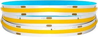 BTF-LIGHTING FOB/COB Tira flexible de LED de alta densidad 3.2FT/1M 378LEDs Blanco cálido 14W 12V Cinta de luz LED deformable regulable para dormitorio cocina hogar decoración interior