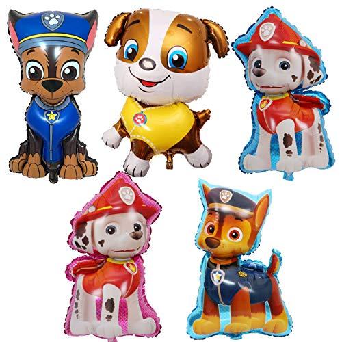 ZSWQ Paw Dog Patrol Palloncini Foil per Feste di Compleanno, Paw Dog Patrol Foil Balloons for Kids Regalo Decorazioni per Feste di Compleanno Decor 5pcs
