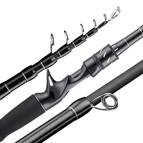 Caña de pescar Carbón de la barra telescópica señuelo de la caña de pescar casting Spinning viaje Rod 7-25g 10-30g 210cm-pesca del bastidor de MH Varilla colgante ( Size : Casting 210cm M )