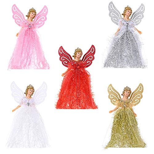 Hinder Christmas Angel Tree Toppel,Christmas Tree Topper Fairy Angel House Decoration Ornament