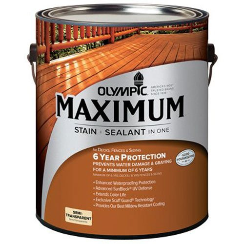 Exterior, Oil, Semi-Transparent, Neutral Tint Base Maximum Deck, Fence & Siding Stain - OLYMPIC/PPG ARCHITECTURAL FIN 79560A/01