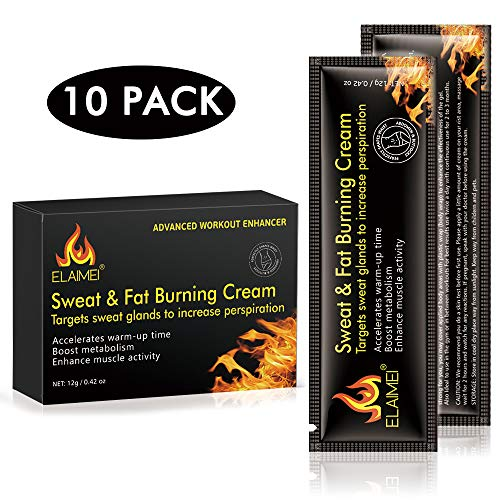 Hot Sweat Cream, Extreme Cellulite Slimming & Firming Cream, Body Fat Burning Massage Gel Weight Losing, Hot Serum Treatment for Shaping Waist, Sports Enhancer, Abdomen and Buttocks Legs