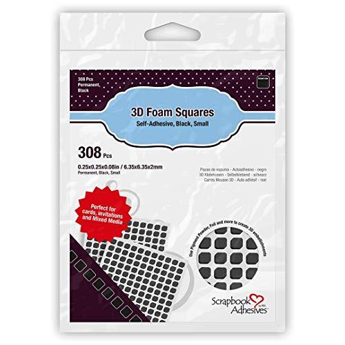 Scrapbook Adhesives by 3L Schaumquadrate, schwarz, klein, 01613