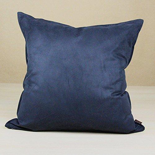 Hidoon - Taie d'oreiller unie, simple et moderne - En suède doux - Housse de coussin décorative pour la chambre à coucher et le salon - 45 x 45 cm