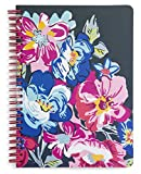 Vera Bradley Floral Mini Spiral Notebook, 8.25' x 6.25' with Pocket and 160 Lined Pages, Pretty Posies