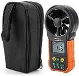 Anemometro digitale Velocità del vento Misuratore di velocità dell'aria Anemometro del palmare Anemometro Anemometro Anemometro dell'aria Anemometro di misurazione con retroilluminazione LCD accurato
