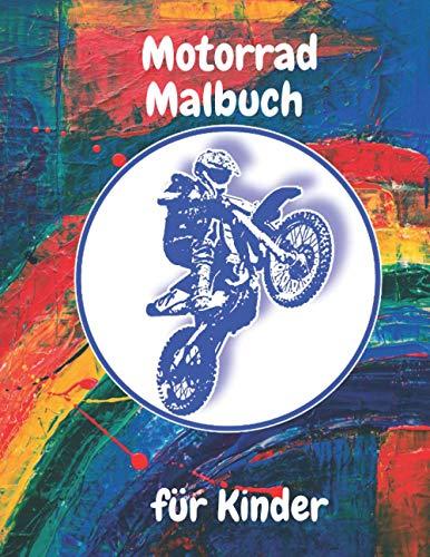 Motorrad Malbuch: Die besten Motorräder zum Malen mit schwarzen Seiten für Erwachsene und Kinder , Maschinen Malbuch für Jungen