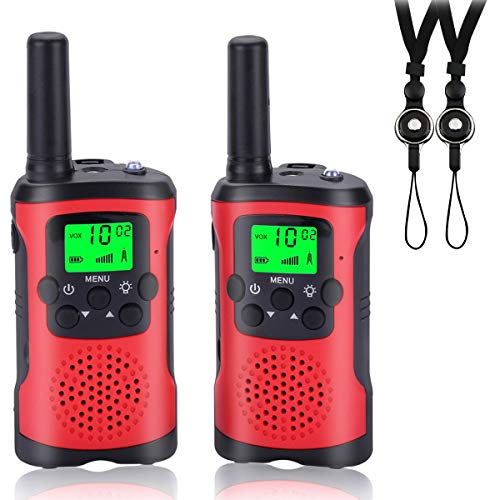 Acehome Walkie Talkies for Kids, Novelty Gifts as Festival Thanksgiving Day Halloween Christmas for Girls Boys, 2pcs 3Miles Handheld Walky Talky for Home Park Neighborhood (A)