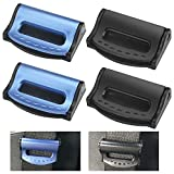 GIRAFEDA 4 Pcs Pinza Cinturon Seguridad Coche Ajustador de Cinturón de Seguridad Coche Clip deCinturon Seguridad Universal y Ajustable para Solver el Problema de Roces y Presión del Cuello