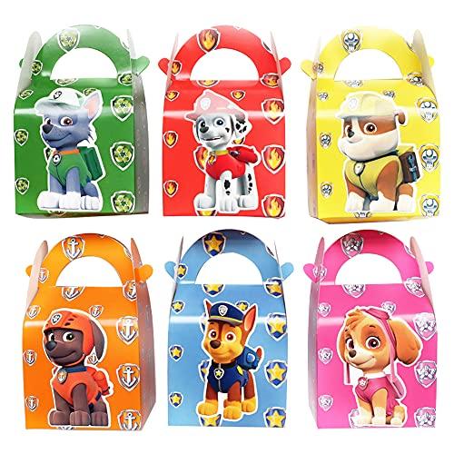 KKTICK 24 sacchetti regalo Paw Dog Patrol Party Scatole per feste per bambini, regali di compleanno per bambini, sacchetti per caramelle, sacchetti per Halloween, Natale, Giveaways, matrimonio