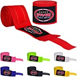 Farabi Kids Boxing Hand Wraps 2.5 Meters Hand Wraps (Red)