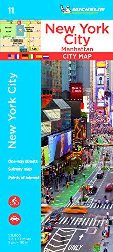 Michelin New York City: Manhattan: Stadtplan 1:11.000 (MICHELIN Stadtpläne, Band 11)