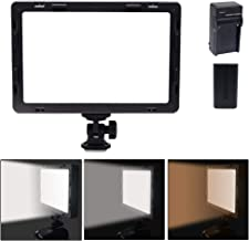 Mcoplus Air-1000b 160pcs Super Silm LED Video Light , Portable CRI95 Bi-color LED Light Panel for Canon Nikon Sony Panasonic Olympus Pentax DSLR Camera and Camcorder with NP-F550+Charger