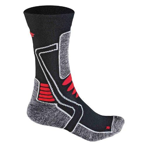 F-lite Feet Motorcycling Mid Woman Socken, black/Red, 39-42
