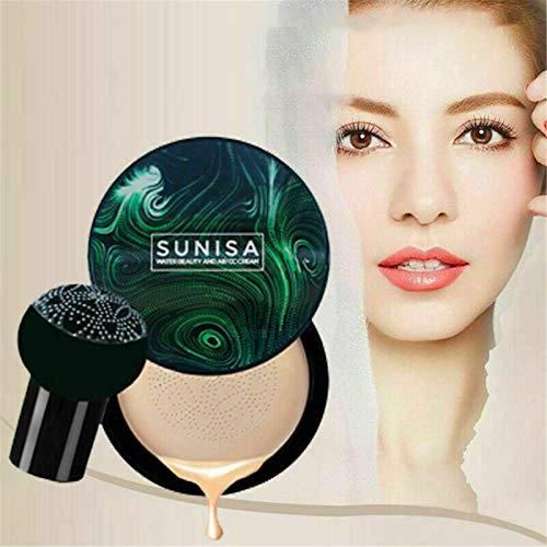 Air Cushion CC Cream, Base Líquida, BB Cream, Base de Maquillaje Todo el Día Sin Imperfecciones, Base de Maquillaje de Tono Uniforme para la Piel con Colchón de Aire Tipo Hongo (Aclarar)