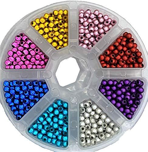 pangaeawalker DIY verwenden 1400 pcs of 8 Farben x 180pcs 3D Illusion Miracle Beads Rund 4mm