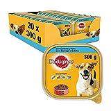 Pedigree Comida Húmeda para Perros, Sabor Cordero y Pollo en Paté (Pack de 20 Tarrinas x 300g)