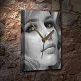 CLAUDIA SCHIFFER - Canvas Clock (A5 - Signed by the Artist)