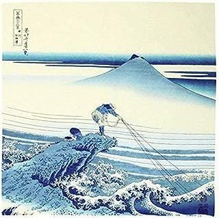 Furoshiki traditional Japanese fabric - Bento lunch wrapping cloth Bandana - Medium 18.9 x 18.9 inches, Hand towel: with Ukiyo-e art Motif [HOKUSAI Kajikawa in Kai Province]