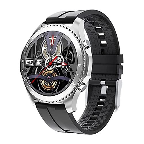 XYZK Reloj inteligente para hombre, con monitor de ritmo cardíaco y presión arterial Spo2, con aplicación de llamadas Bluetooth, recordatorio de mensajes, reloj Bluetooth Ios Android (H)