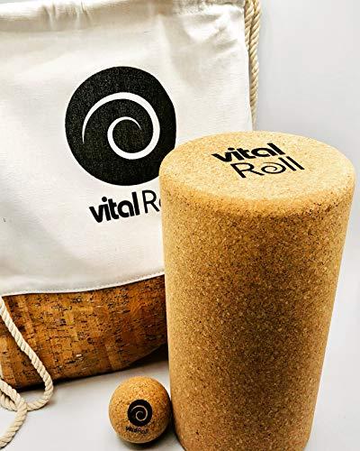 Vital Roll Faszienset - Faszienrolle für Ihre Wirbelsäule - Universelles Faszienrollen Set - Foam Roller - Angenehme Rückenrolle - Gymnastikrolle - Faszien Ball
