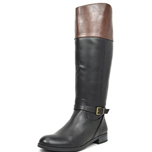 9f782a64166e Women s Black with Brown Riding Boots  Amazon.com