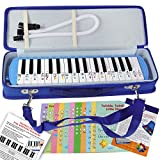 Melodica with 23 Songs for Beginners- Pianica Air Piano 32 Key - Carrying Bag
