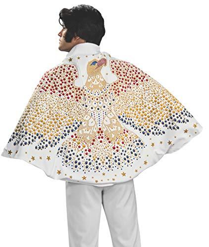 Rubie's Elvis Umhang mit Adler Kostüm - Weiß - Einheitsgröße