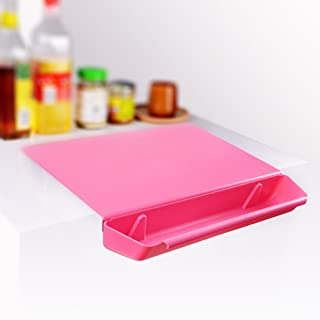 Chopping Board With Food Grade Pp Anti-Microbial And Storage Groove For Kitchen Tool(Red)