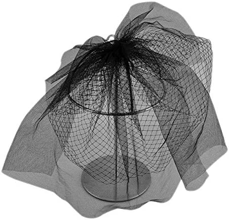 CHIC DIARY Brautschleier Schwarz//Wei/ß Hochzeitskleid Schleier Kurz Netzschleier f/ür Cocktail Hochzeit JGA Halloweenkost/üm