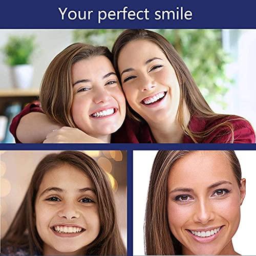 1 pair eneers Dentures, Instant False Teeth Cosmetic Teeth Covering Missing Teeth Denture Tooth, Comfortable Fake Tooth…