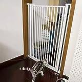 Barrera seguridad Puerta para bebés con puerta para mascotas para escaleras -...