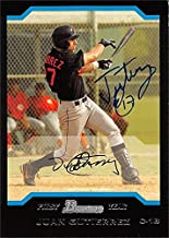 Juan Gutierrez autographed Baseball Card (Baltimore Orioles) 2004 Bowman First Year Rookie #283 - Baseball Slabbed Autographed Cards